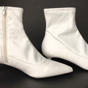 4054166fdf4 Free People Shoes - Free People Marilyn White Sock Boot Kitten Heels